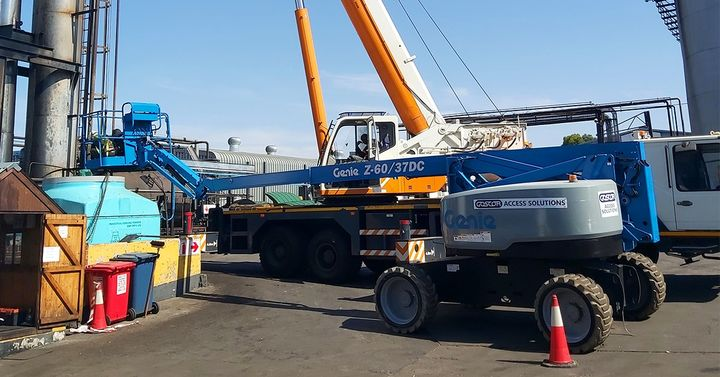 Goscor Access Solutions equipment on site