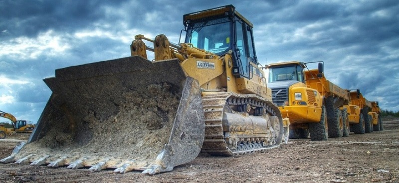 Mining equipment in the field